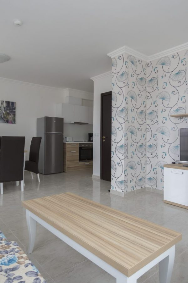 Typical apartment with 2 bedrooms and a living-room 6  ~80м² Garden view