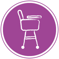 rent a high chair in the apartment