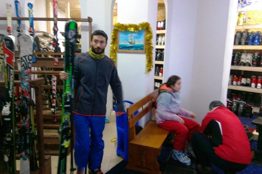 Ski-school and Ski equipment